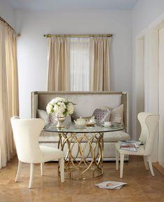 Salon Dining Table w/Glass Top - Bernhardt Furniture   Luxe Home Philadelphia #diningroomfurniture