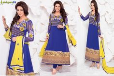 Shop in Most wonderful Designer Purple Yellow #AnarkaliSuit online at special discount prices with Free Shipping and COD.  Shop Now:- http://www.shoppers99.com/karishma_kapoor_anarkali_suits/purple_yellow_anarkali_suit_t-496-743_2