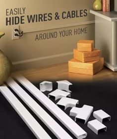 TV Cord Cover Kit Paintable Organize Cords Cables Wires Consealer ...