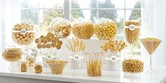 Gold Candy Buffet Supplies - Gold Candy & Containers | Party City