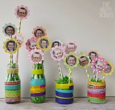 Preschool Crafts for Kids: Mother's Day Photo Flower Bouquet Craft - Easy Crafts for All Homemade Mothers Day Gifts, Mothers Day Crafts For Kids, Fathers Day Crafts, Homemade Gifts, Mother Day Gifts, Gifts For Kids, Diy Mother's Day Crafts, Mother's Day Diy, Preschool Crafts