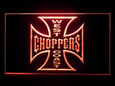 West Coast Choppers Bar Pub Decoration Led Light Sign R 05 Custom Neon Signs, Led Neon Signs, Neon Light Signs, West Coast Choppers, Neon Lighting, Making Ideas, Harley Davidson, How To Make Money, Advertising