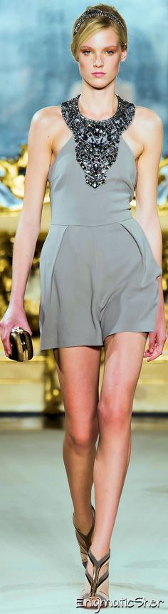 Elisabetta Franchi ~ Spring Halter Top w Short, Grey, 2015