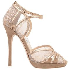 JIMMY CHOO Lace Glitter Fayme Sandal (€740) ❤ liked on Polyvore featuring shoes, sandals, heels, sapatos, nude, strap sandals, nude sandals, jimmy choo sandals, strappy high heel sandals and high heel sandals