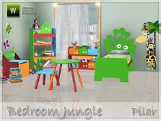 Bedroom Jungle by Pilar  http://www.thesimsresource.com/downloads/1178575