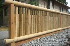 35 Admirable Bamboo Garden Fence Design Ideas - A bamboo garden fence is a fantastic addition to any garden area. It can be used in creating a boundary between your garden and the rest of your yard . Bamboo Garden Fences, Garden Gates, Bamboo Art, Bamboo Crafts, Bamboo Ideas, Fence Design, Garden Design, Bamboo House Design, Bamboo Building