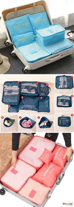 US$13.45+Free shipping. Travel Bags, Storage Bags, 6Pcs, Waterproof, Clothes Pouch. Make your travel more convenient. Shop now!