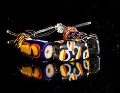 Venetian Millefiori African Trade Beads, 7 Beads 0515C