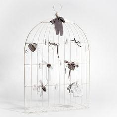 Pêle-mêle Cage oiseau blanc