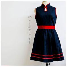 Modern Trendy Black Cheongsam Dress Mandarin Collar Qipao