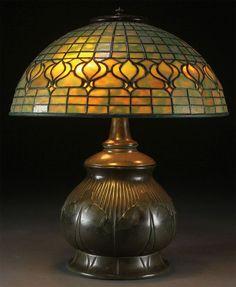 Tiffany Studios Pomegranate Table Lamp. More