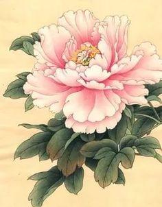 asian floral art at DuckDuckGo Peony Painting, Watercolor Flowers, Painting & Drawing, Watercolor Paintings, Art Paintings, Japanese Flowers, Japanese Art, Botanical Illustration, Botanical Prints