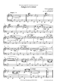 Youtube adagio de albinoni en piano