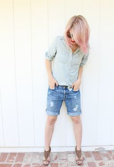 Make Your Own Boyfriend Shorts and 8 Ways To Wear Them!