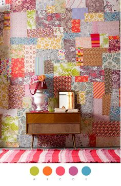 Have always wanted to do this with my painted sample boards. via make it yours: lula aldunate | Design*Sponge