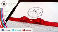 Aprenda a fazer este belíssimo convite de casamento com renda, laço, estilo clássico com monograma (Legendado/Subtitled)   https://www.youtube.com/watch?v=qoh1z3cCn6M
