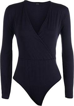 Plus Size Womens Wrap Long Sleeve V Neck Ladies Bodysuit Leotard Top - Navy Blue - 24-26 WearAll http://www.amazon.co.uk/dp/B015HJLOFI/ref=cm_sw_r_pi_dp_gzlBwb1VM1WC2