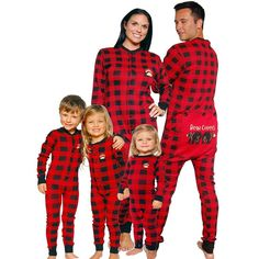 abbc4ced43 Plaid Bear Cheeks Flapjack Pajamas (for the whole family 😂) Xmas Pajamas