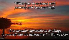 Wayne Dyer, Self, Peace, Love, Movie Posters, Inspiration, Biblical Inspiration, Film Poster, Amor