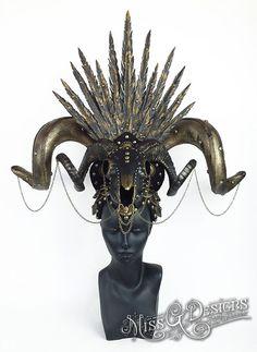 Skull & Horns Headdr