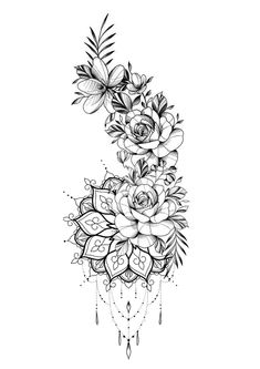 Hip Tattoos Women, Dope Tattoos, Leg Tattoos, Body Art Tattoos, Small Tattoos, Sleeve Tattoos, Tatoos, Calf Tattoo, Floral Tattoo Design
