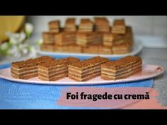 Prăjitură cu foi fragede cu cacao și cremă de vanilie || 🍰 Dulcinele ❤ - YouTube Choux Pastry, Vanilla Cream, Christmas Cookies, Waffles, Deserts, Breakfast, Sweet, Recipes, Food