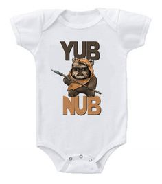 NEW Cute Funny Star Wars Ewok Baby Bodysuits One Piece Yub Nub