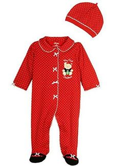 Little Me Baby Girls My 1st Christmas Bear Footie 3 months * See this great product.