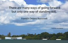 #PearlHarbor today on the 75th anniversary of the attack there with an apt quote by then President #FranklinDelanoRoosevelt.  If this #quotograph speaks to you, please feel free to share with others.
