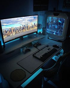 "Polubienia: 619, komentarze: 80 – Usman (@sarz_92263) na Instagramie: ""#pcbuild #mancave #gamer #pcgaming #gtx98ti #corsair #razer #nvidia #gforce #Asus #intel #ikea…"" Diy Computer Desk, Computer Desk Setup, Gaming Room Setup, Pc Desk, Pc Setup, Office Setup, Computer Workstation, Custom Gaming Desk, Gaming Computer Desk"