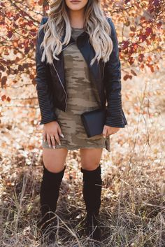 CASEY HOLMES: Camo & Leather Obsession!
