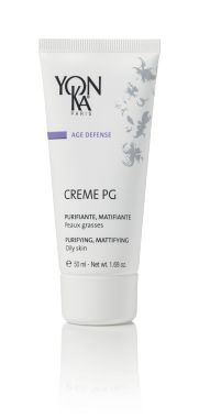 CREME PG (BALANCING) Normalize oily skin with this purifying, mattifying age prevention cream that tightens pores and gently regulates oil secretions with the help of an ultra-high concentration of the naturally astringent burdock root. This treatment diminishes redness and skin irritation, eases swelling of inflamed skin, helps heal skin affected by bacteria, and reduces shine, making it the perfect all-in-one ally for oily skin.  #skincare #beauty
