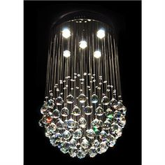 Albina Crystal Drops Ceiling Light | Livingstyles