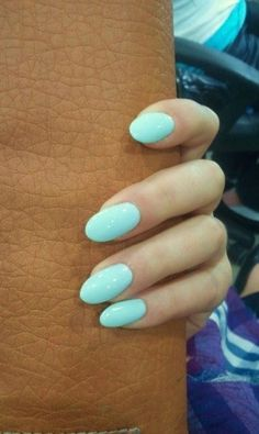 55 Most Stunning Acrylic Oval nails Design and Round Nails Design You Must Try This Year - Nail Idea 09 Oval Acrylic Nails, Acrylic Nail Designs, Round Nails, Oval Nails, Round Nail Designs, Nails Tumblr, Super Nails, Blue Nails, Mint Nails