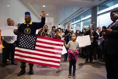 Trump's Muslim Ban Galvanizes Civil Rights Activists Across the American South -- Protesters rally at Birmingham-ShuttlesworthInternational Airport on January Photo: Courtesy Ann Sydney Taylor The Intercept, Muslim Ban, Civil Rights Activists, January 29, Birmingham, Rally, Sydney, Ann, Community