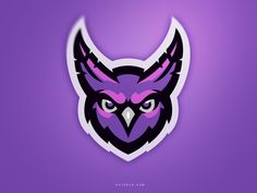 The purple owl them is an interesting eye-catching way for someone to remember your team. Made a non-threatening animal, threatening. Buho Logo, Owl Logo, Purple Owl, Game Logo Design, Esports Logo, Owl Illustration, Black Abstract, Wildlife Art, Wallpaper