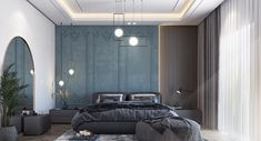 Modern Classic Bedroom, Modern Luxury Bedroom, Luxury Bedroom Design, Master Bedroom Interior, Bedroom Closet Design, Luxurious Bedrooms, Home Bedroom, Interior Design Living Room, Round Beds