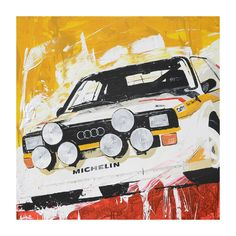 The Classic Motorsport Art of Tom Havlasek Audi Sport Group B Rally Car Auto Poster, Car Posters, Speed Art, Automobile, Mobile Art, Car Illustration, Car Drawings, Automotive Art, Rally Car
