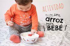 #Actividadesparabebe con arroz  en #Manualidadesinfantiles apostamos por los #Juguetescaseros