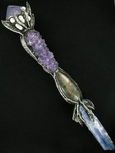 Magical Crystal Wands Amethyst Amber Emerald more
