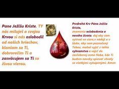 Novéna k Predrahej Svätej Krvi Pána Ježiša Krista od Bartolomeo da Saluzzo Make It Yourself, Youtube, Youtubers, Youtube Movies