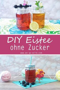 Eistee selber machen: 6 leckere Durstlöscher für heiße Tage We ensure hot summer days and conjure up a delicious soft drink without alcohol. The homemade iced tea without sugar is quickly prepared and simply tastes delicious. Iced Tea Recipes, Brunch Recipes, Drink Recipes, Making Iced Tea, Healthier Together, Bon Dessert, Slushies, Healthy Drinks, Healthy Food