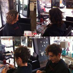 Hoy os mostramos un cambio de #look realizado por nuestra estilista Ruth.  Cambio de largo a corto, cabello rizado estilo pixie, corte con desconexión y trabajo de coloración con Elumen NG@7.  ¿Os gusta? ¿Qué os parece el cambio?