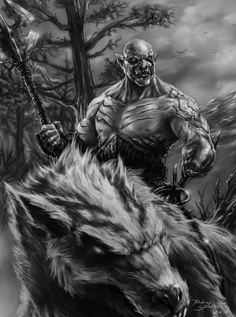 Azog the Defiler artwork | Although their goal lies to the East and the wastelands of the Lonely ...