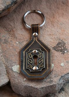 Dwarven Leather Keychain from The Velvet Republic. Inspired by The Hobbit.
