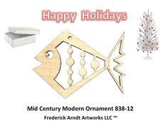 Mid Century Modern Ornament 83812 by FredArndtArtworks on Etsy, $14.95