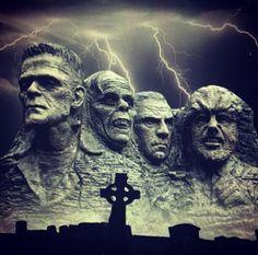 Mt Rushmore - Universal classic monster style