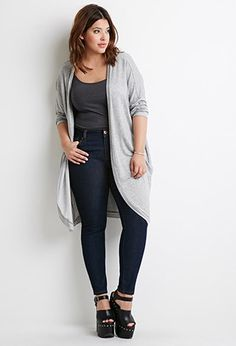 Plus Size Classic Skinny Jeans (Short)   Forever 21 PLUS - 2000132074