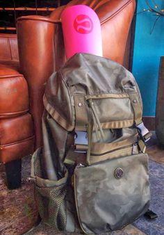 This lululemon rucksack has wanderlust written all over it! Athletic Outfits, Athletic Wear, Sport Outfits, Workout Attire, Workout Gear, Workout Style, Gym Swag, Lulu Love, Lululemon Yoga