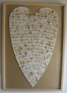 Upcycled Heart made from Littered Cigarette Butts in Shadow Box frame. $850.
